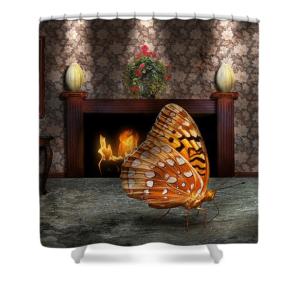 Animal - The Butterfly Shower Curtain by Mike Savad