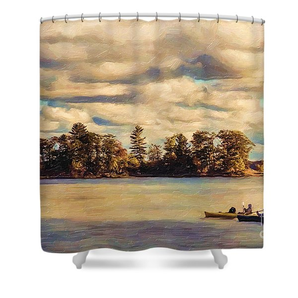 Anne Lacys Hamlin Lake Shower Curtain by Lianne Schneider and Anne Lacy