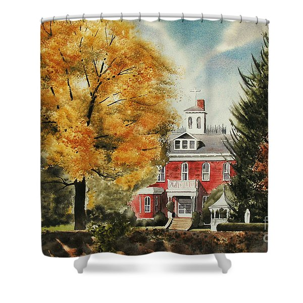 Antebellum Autumn Ironton Missouri Shower Curtain by Kip DeVore