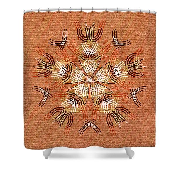 Anthropomorphic Mandala Shower Curtain by Hakon Soreide