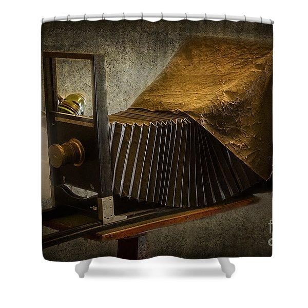 Antique Camera Shower Curtain by Susan Candelario
