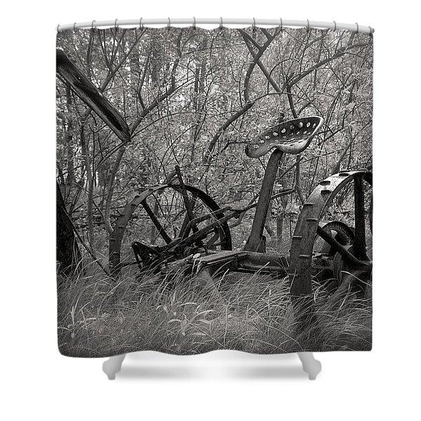 Antique Field Mower Shower Curtain by Mary Lee Dereske