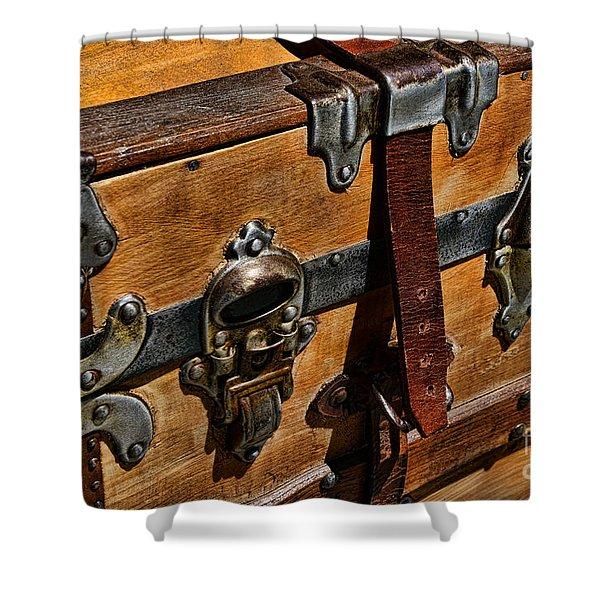 Antique Steamer Truck Detail Shower Curtain by Paul Ward
