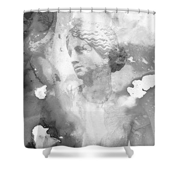Aphrodite's First Love 2 - Guitar Art By Sharon Cummings Shower Curtain by Sharon Cummings