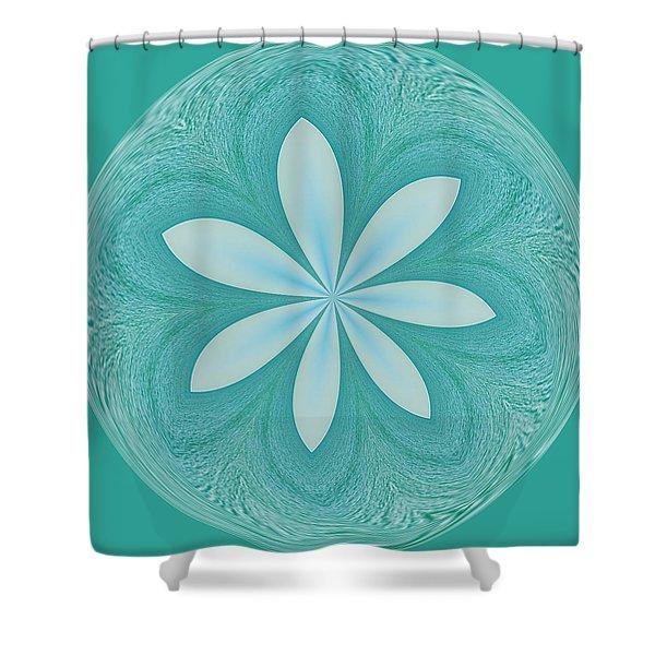 Aqua Orb Shower Curtain by Kim Hojnacki