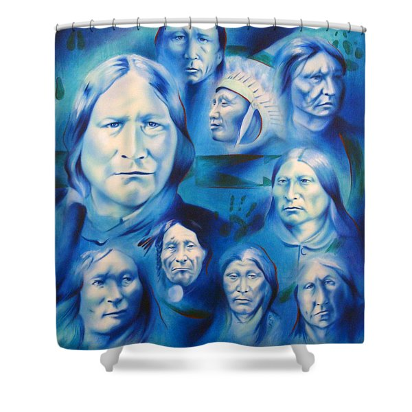 Arapaho Leaders Shower Curtain by Robert Martinez