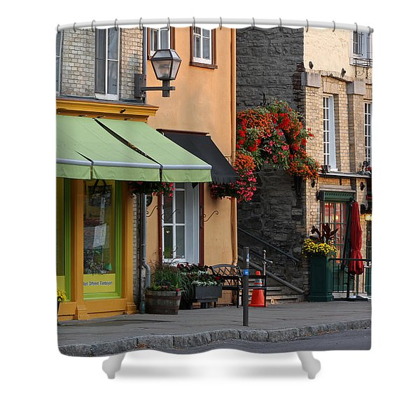 Arch Of Flowers In Old Quebec City Shower Curtain by Juergen Roth