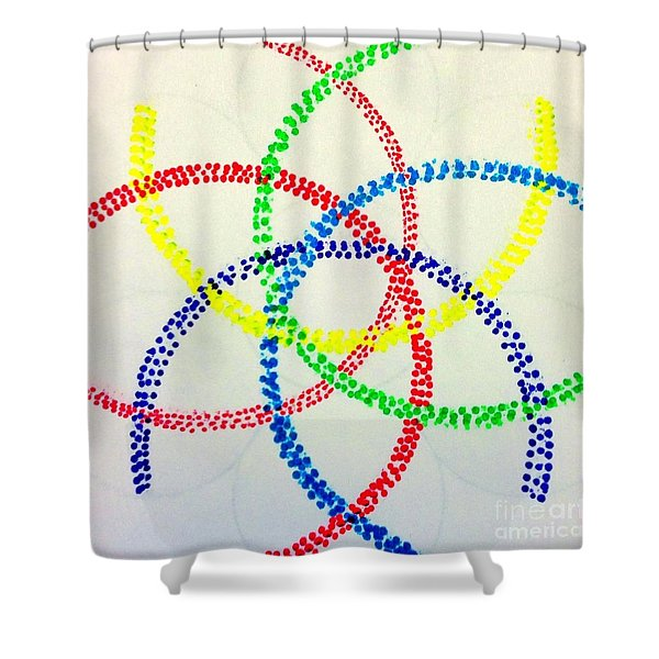 Arcs Shower Curtain by Rrrose Pix