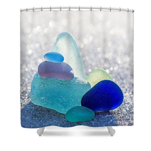 Arctic Peaks Shower Curtain by Barbara McMahon