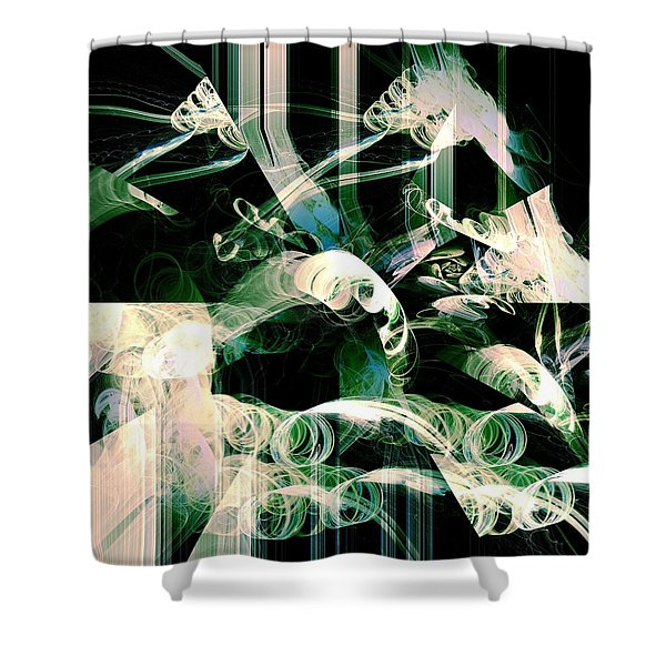 Ardua Shower Curtain by Anastasiya Malakhova
