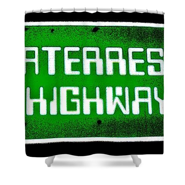 Area 51 Shower Curtain by Benjamin Yeager