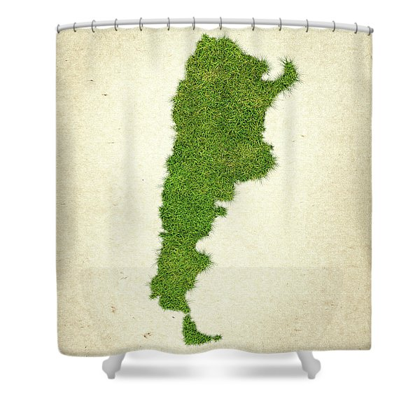 Argentina Grass Map Shower Curtain by Aged Pixel