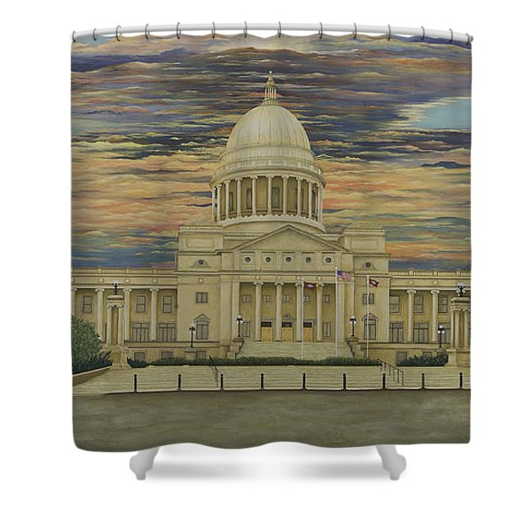 Arkansas State Capitol Shower Curtain by Mary Ann King