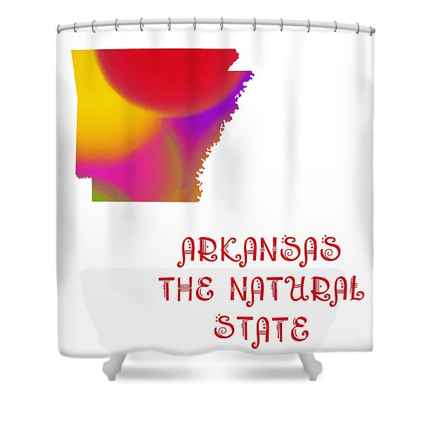 Arkansas State Map Collection 2 Shower Curtain by Andee Design