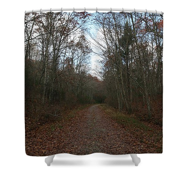 Around The Bend Shower Curtain by Neal  Eslinger
