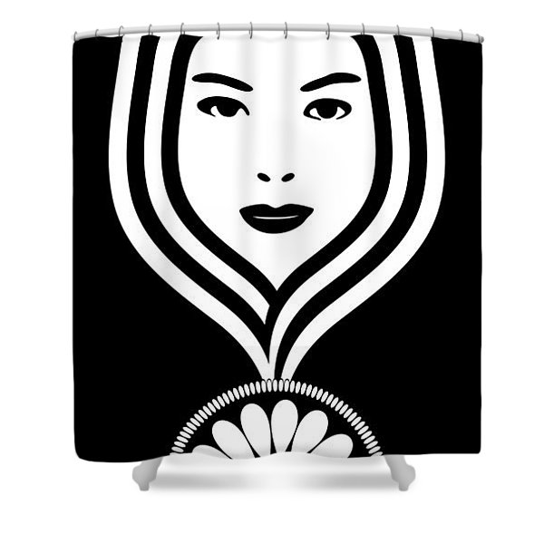 Art Nouveau Woman Shower Curtain by Frank Tschakert