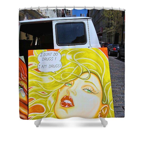 Artist with Attitude Shower Curtain by Allen Beatty