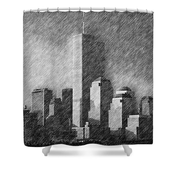 As You Were Shower Curtain by Joann Vitali
