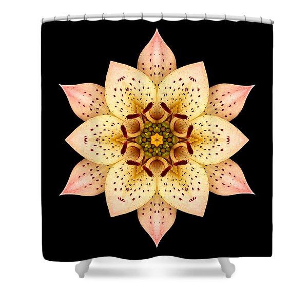 Asiatic Lily Flower Mandala Shower Curtain by David J Bookbinder