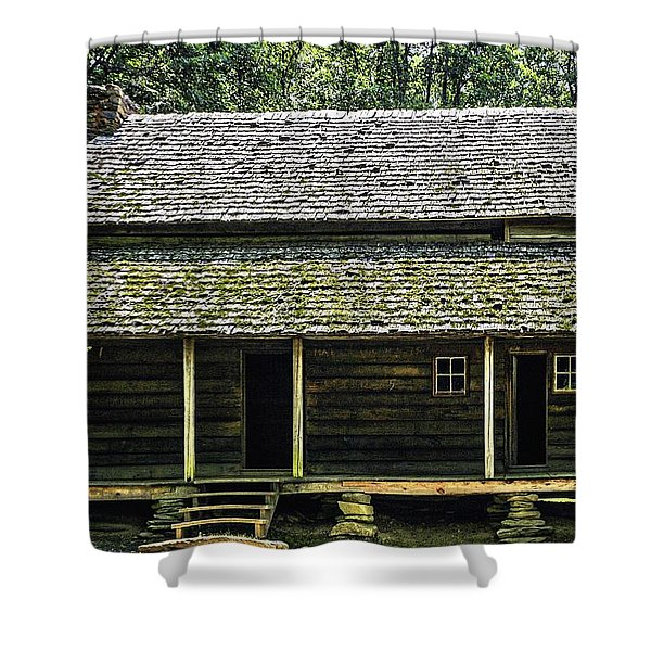 At Home in the Woods Shower Curtain by Barry Jones