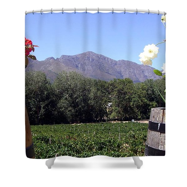 At The Rickety Bridge Winery Shower Curtain by Barbie Corbett-Newmin