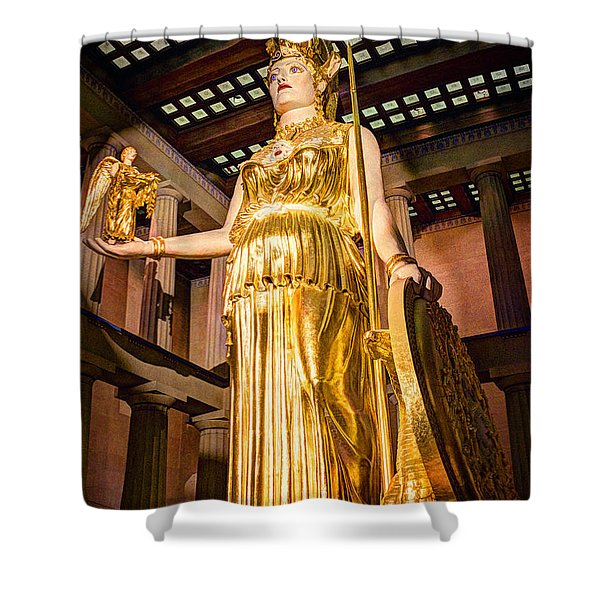 Athena Shower Curtain by Bob Hislop