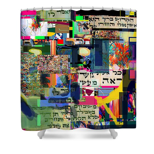 atomic bomb of purity 2c Shower Curtain by David Baruch Wolk