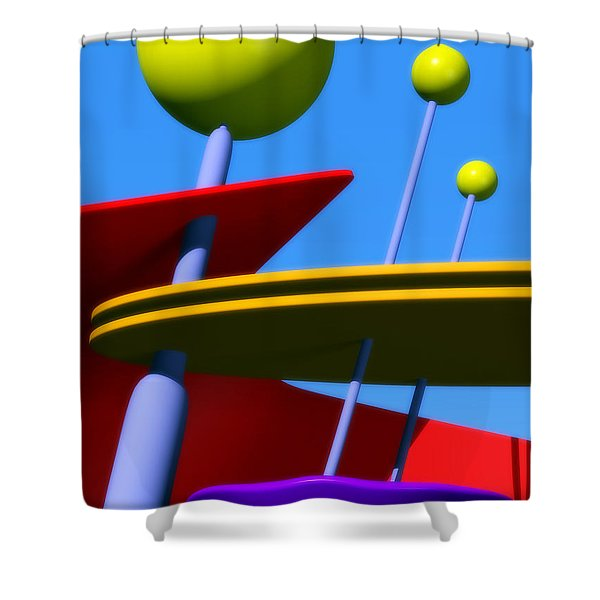 Atomic Dream Shower Curtain by Richard Rizzo