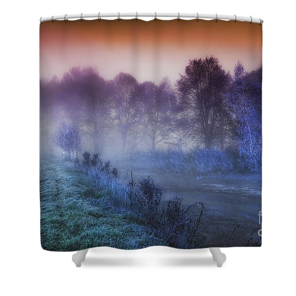 Aurora Shower Curtain by Mo T