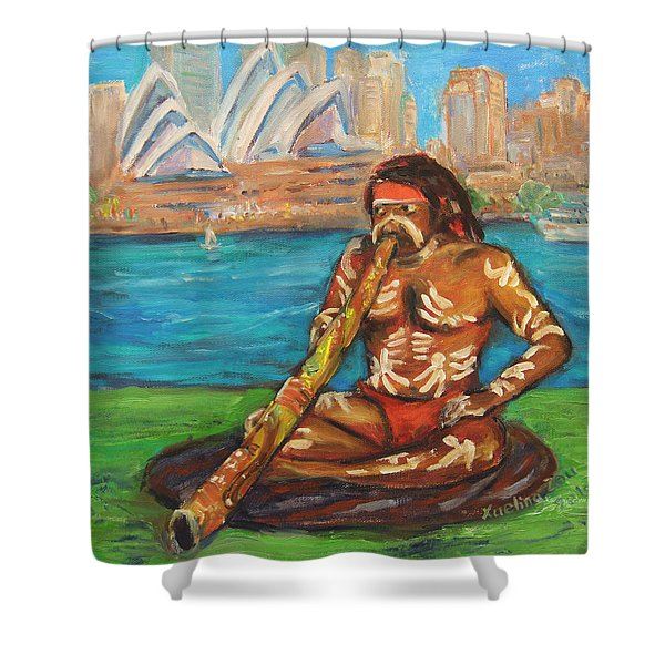 Aussie Dream I Shower Curtain by Xueling Zou