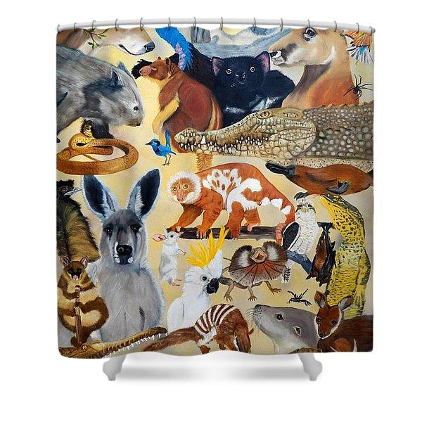 Australia Shower Curtain by Debbie LaFrance
