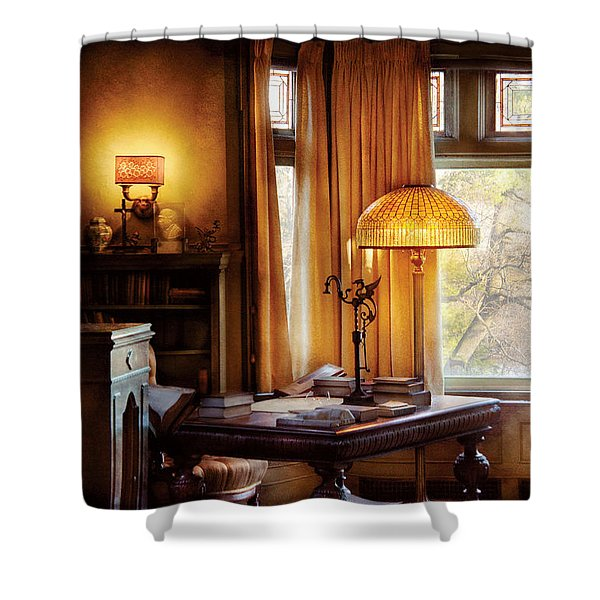 Author -  Style and Class Shower Curtain by Mike Savad