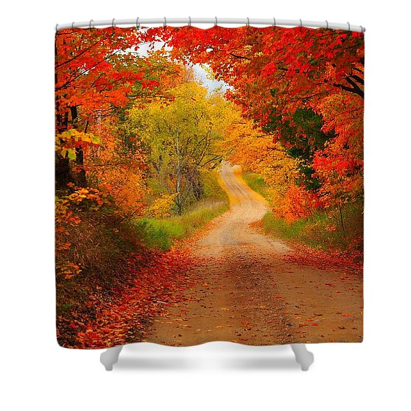 Autumn Cameo Shower Curtain by Terri Gostola