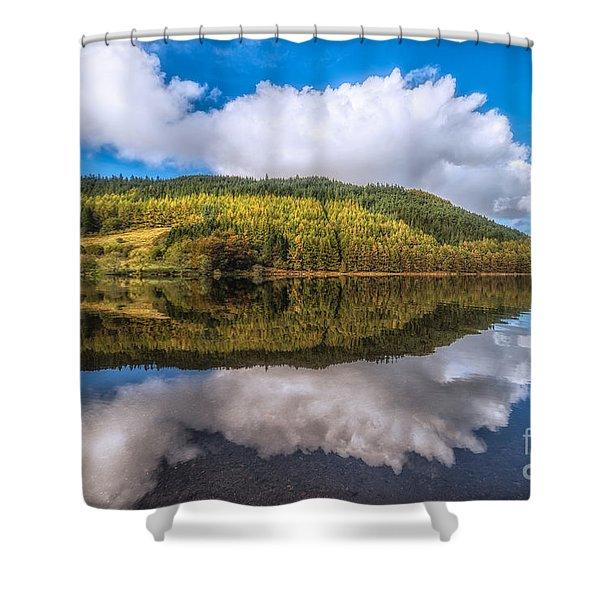 Autumn Clouds Shower Curtain by Adrian Evans