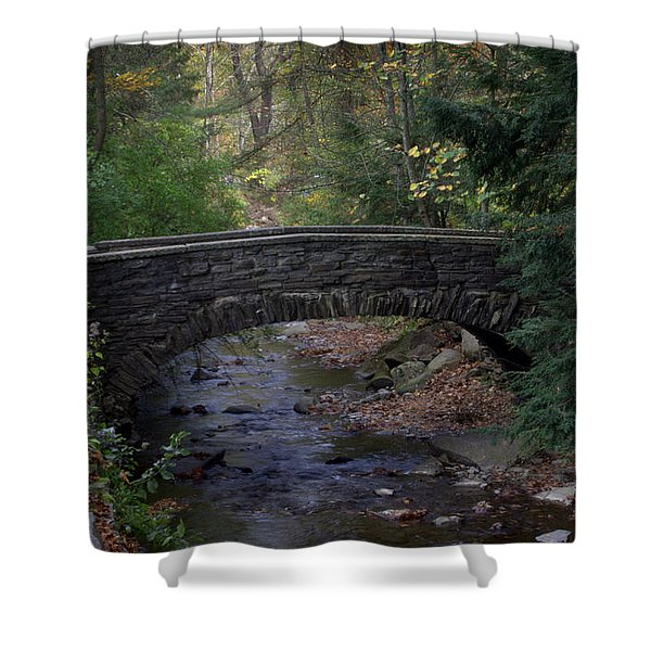 Autumn Creek Shower Curtain by J Allen