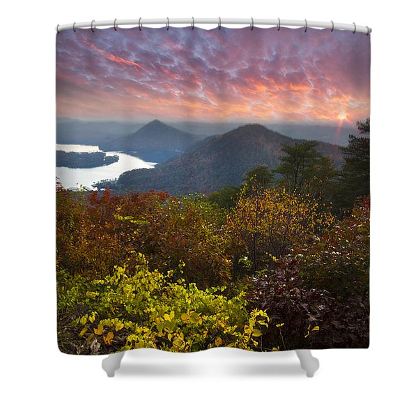 Autumn Evening Star Shower Curtain by Debra and Dave Vanderlaan