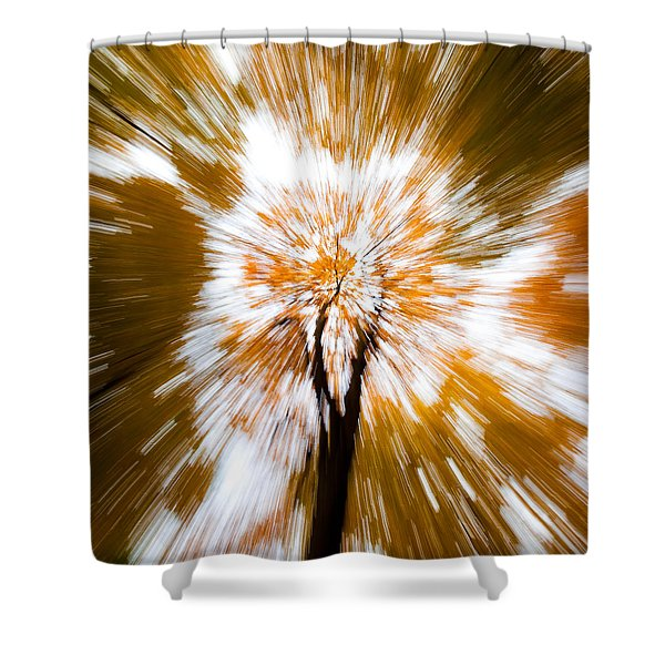 Autumn Explosion Shower Curtain by Dave Bowman