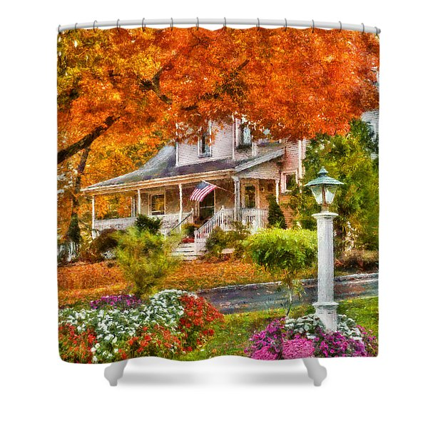 Autumn - House - The Beauty of Autumn Shower Curtain by Mike Savad