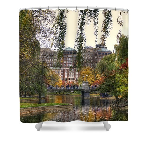 Autumn in Boston Garden Shower Curtain by Joann Vitali
