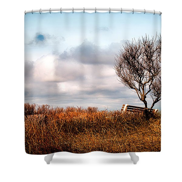 Autumn In Maine Shower Curtain by Bob Orsillo
