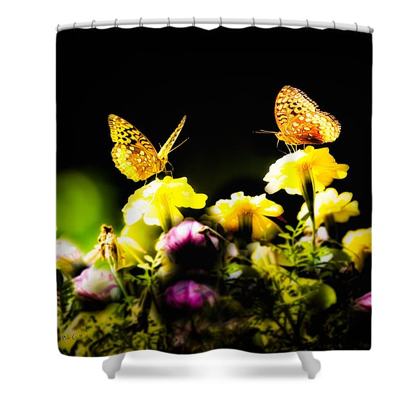 Autumn is when we first met Shower Curtain by Bob Orsillo