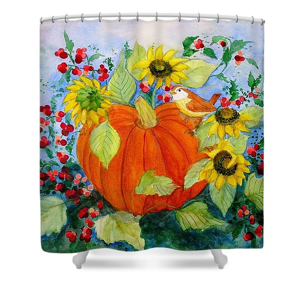 Autumn Shower Curtain by Laura Nance