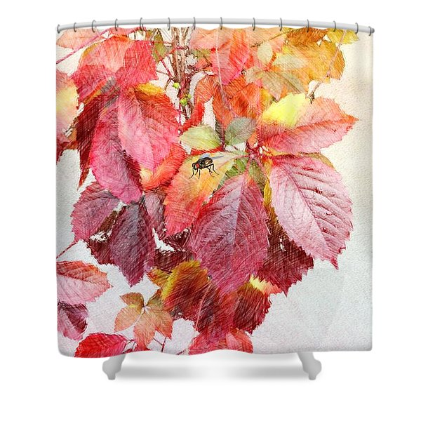 Autumn Leaves Shower Curtain by Liane Wright