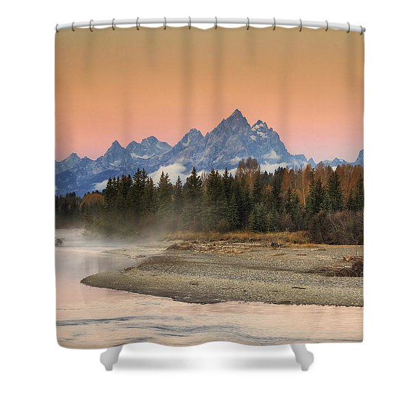 Autumn Mist Shower Curtain by Mark Kiver
