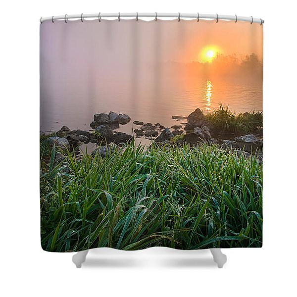 Autumn Morning II Shower Curtain by Davorin Mance