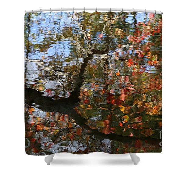 Autumn Reflections Shower Curtain by Neal  Eslinger