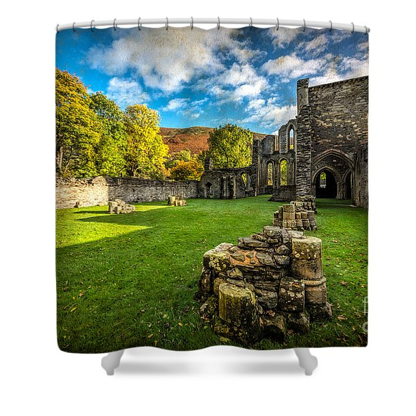 Autumn Ruins Shower Curtain by Adrian Evans