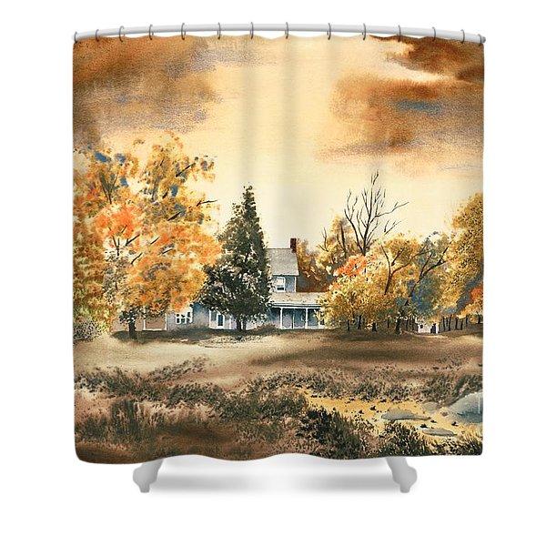 Autumn Sky No W103 Shower Curtain by Kip DeVore