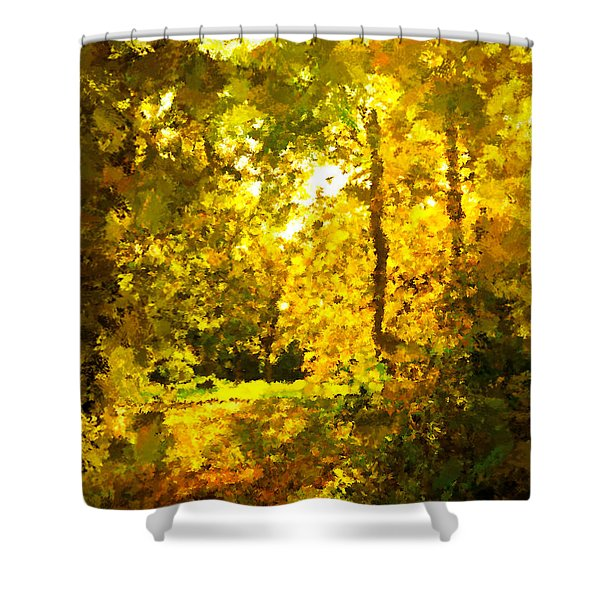 Autumn Splash Shower Curtain by Johnny Trippick