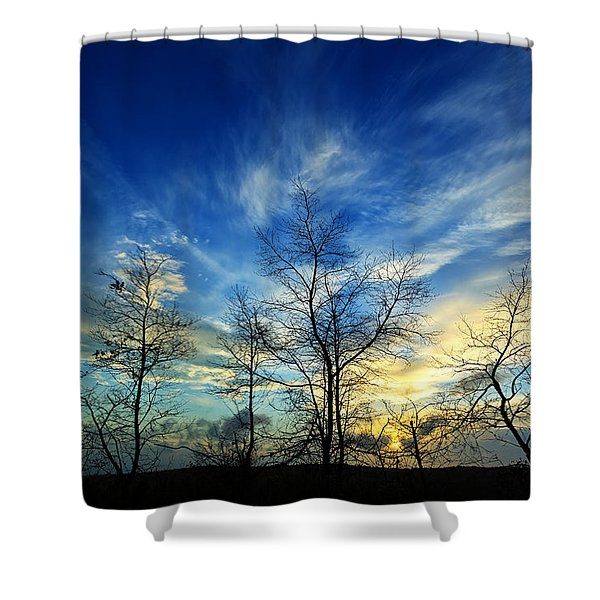 Autumn Sunset Shower Curtain by Bill Caldwell -        ABeautifulSky Photography